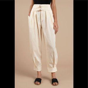Free People Double Buckle Cotton Pants